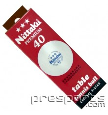 Nittaku 3 Star 40mm Premium Ball (3 PACK BOX)