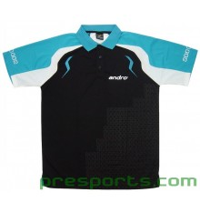 Andro Mingo Polo Shirt (BLACK/BLUE)