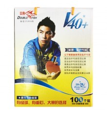 Double Fish 1 Star V40+ ABS Ball (100 PACK BOX)