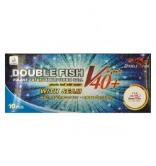Double Fish 3 Star V40+ ABS Ball (10 PACK BOX)